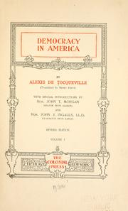 Cover of: Democracy in America by Alexis de Tocqueville