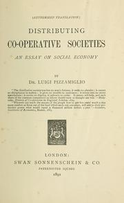 Societ cooperative di consumo. by Luigi Pizzamiglio