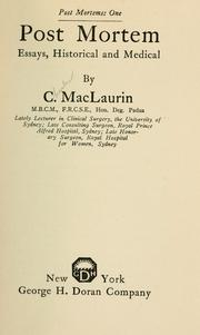Post mortem by Charles MacLaurin
