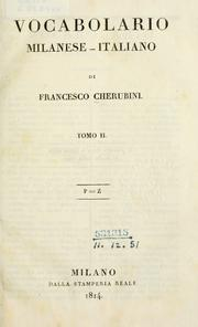 Vocabolario milanese-italiano by Francesco Cherubini