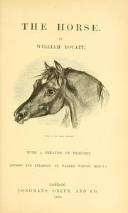 The horse by William Youatt