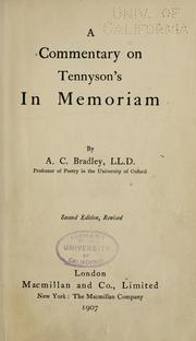 A commentary on Tennyson's In memoriam by A. C. Bradley