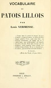 Vocabulaire du patois lillois by Louis Vermesse