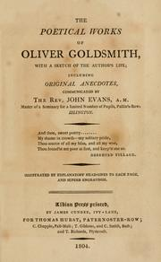 The poetical works of Oliver Goldsmith by Goldsmith, Oliver