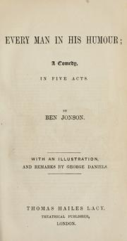 Cover of: Every man in his humour by Ben Jonson