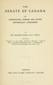 The Senate of Canada PDF