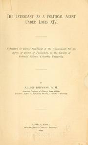 The intendant as a political agent under Louis XIV .. PDF