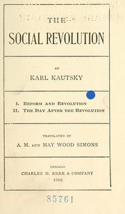 Soziale Revolution by Karl Kautsky