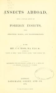 Insects abroad by John George Wood