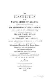 The Constitution of the United States of America by Hickey, William