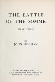 The battle of the Somme by John Buchan