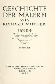 Geschichte der Malerei by Muther, Richard