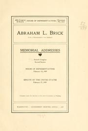 Abraham L. Brick (late a representative from Indiana) PDF
