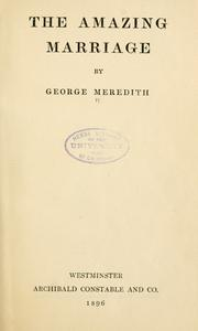 The amazing marriage by George Meredith