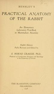 Bensley's Practical anatomy of the rabbit PDF