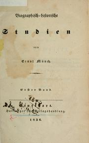 Biographisch-historische Studien by Ernst Münch