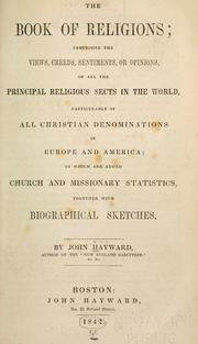 The book of religions by Hayward, John