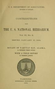 Botany of Yakutat Bay, Alaska by Frederick V. Coville