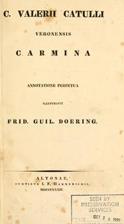 Cover of: Selected poems by Gaius Valerius Catullus
