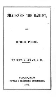 Shades of the Hamlet and other poems PDF