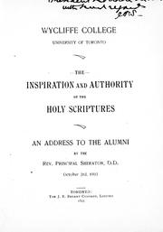 The inspiration and authority of the Holy Scriptures PDF
