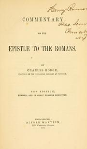 Commentary on the Epistle to the Romans by Christoph Ernst Luthardt