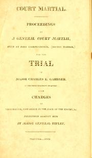 Cover of: Court martial by Charles K. Gardner
