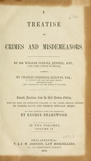 A treatise on crimes and misdemeanors by Russell, William Oldnall Sir