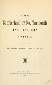 Cover of: Cumberland and No. Yarmouth register, 1904 by Mitchell, H. E.