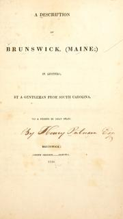 A description of Brunswick, (Maine;) by Henry Putnam