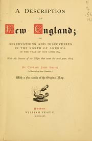 A description of New England by John Smith