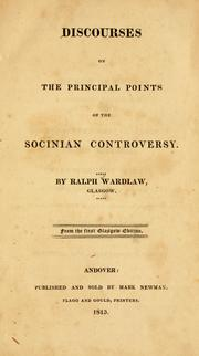Discourses on the principal points of the Socinian controversy PDF