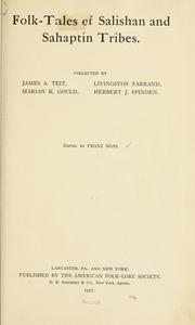 Folk-tales of Salishan and Sahaptin tribes by Franz Boas