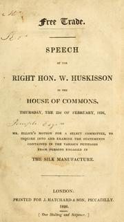 Free trade by W. Huskisson