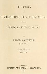 History of Friedrich II of Prussia PDF