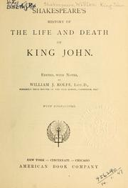 History of the life and death of King John by William Shakespeare