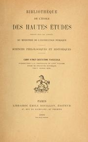 Introduction  la chronologie du latin vulgaire by Friedrich Georg Mohl
