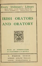 Irish orators and oratory by Tom Kettle