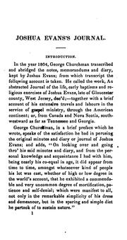 Cover of: A journal of the life, travels, religious exercises and labours in the work of the ministry of Joshua Evans, late of Newton Township, Gloucester County, New Jersey. by Joshua Evans