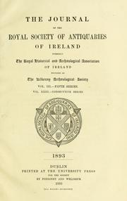 Journal of the Royal Society of Antiquaries of Ireland by Royal Society of Antiquaries of Ireland.
