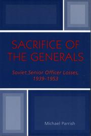 Sacrifice of the generals by Michael Parrish