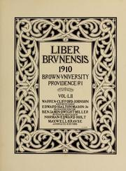 Cover of: Liber brunensis by published by the Greek letter societies of Brown University.