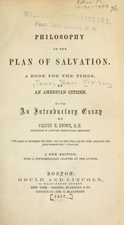 Philosophy of the plan of salvation by James Barr Walker
