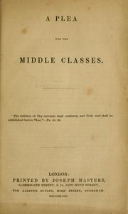 A plea for the middle classes PDF