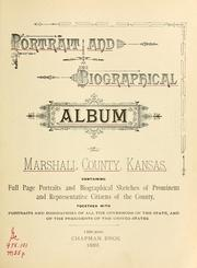 Cover of: Portrait and biographical album of Marshall County, Kansas by
