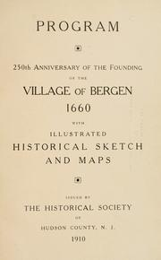 Program, 250th anniversary of the founding of the Village of Bergen, 1660 PDF