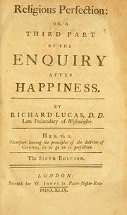 Enquiry after happiness by Richard Lucas