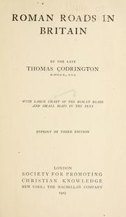 Roman roads in Britain by Thomas Codrington