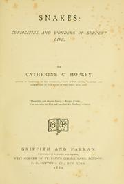 Cover of: Snakes by Catherine Cooper Hopley