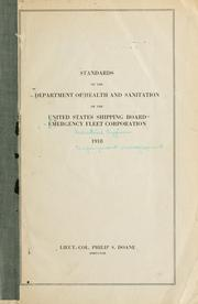 Standards of the Department of Health and Sanitation of the United States Shipping Board Emergency Fleet Corporation, 1918 PDF